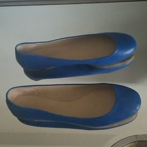VERA WANG blue flat shoes size 10